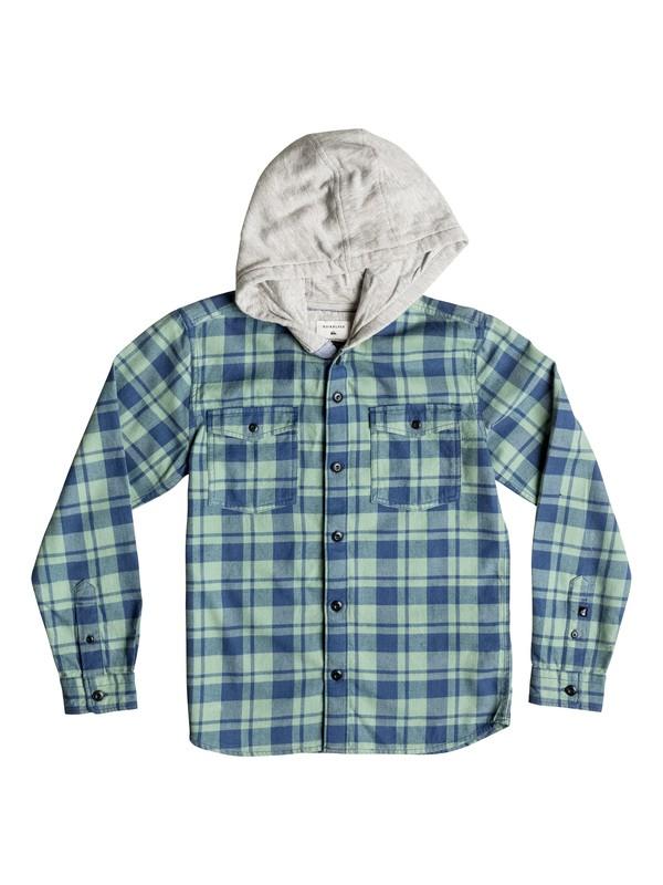 0 Snap Up Flannel - Chemise à manches longues et à capuche Bleu EQBWT03107 Quiksilver