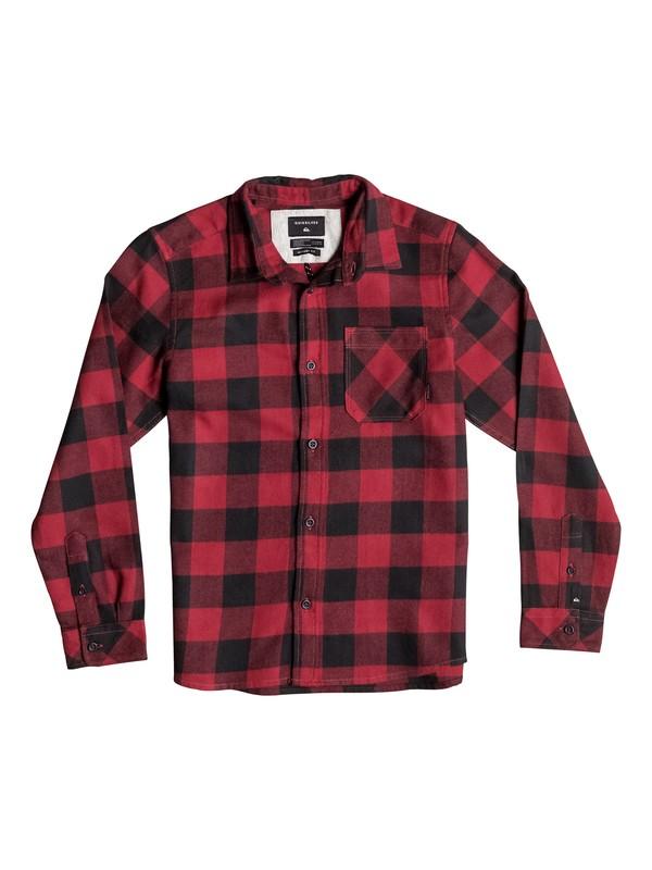 0 Boy's 8-16 Motherfly Flannel Long Sleeve Shirt  EQBWT03109 Quiksilver