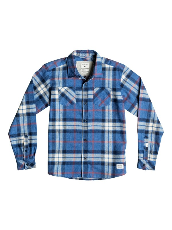 0 Boy's 8-16 Fitzthrower Flannel Long Sleeve Shirt  EQBWT03110 Quiksilver