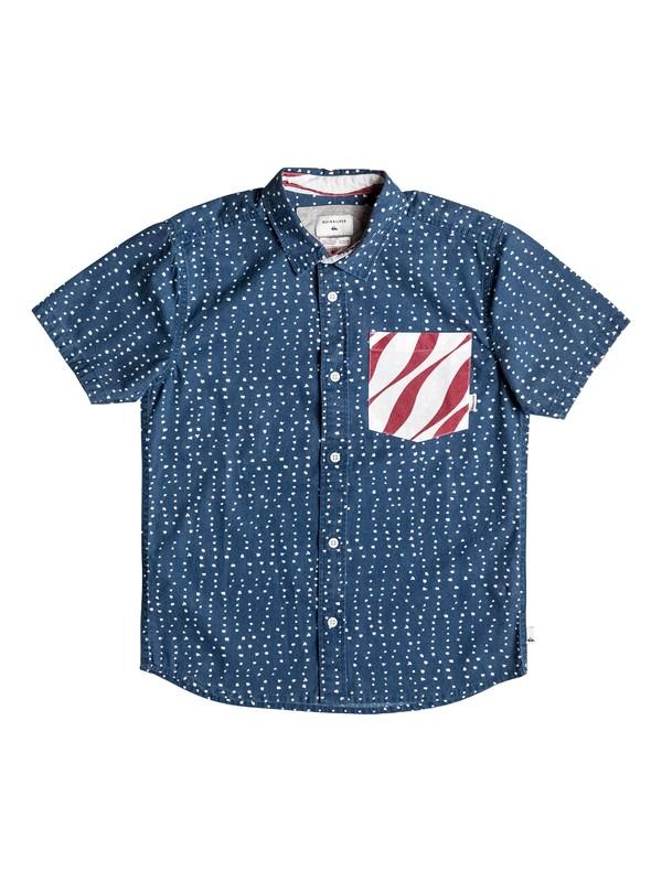 0 Boy's 8-16 New Merica Short Sleeve Shirt  EQBWT03174 Quiksilver