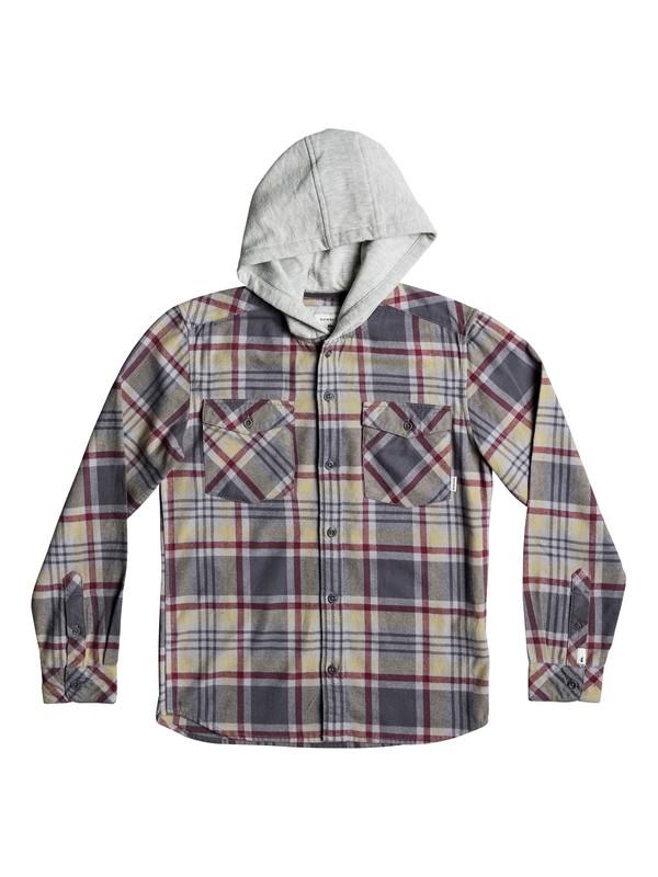 0 Boy's 8-16 Tang Hooded Long Sleeve Shirt Beige EQBWT03196 Quiksilver