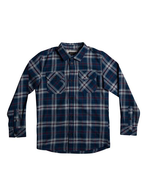 0 Boy's 8-16 Fitzspeere Long Sleeve Shirt Blue EQBWT03207 Quiksilver