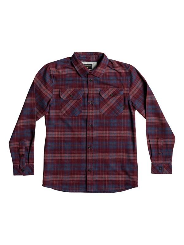 0 Boy's 8-16 Fitzspeere Long Sleeve Shirt Red EQBWT03207 Quiksilver