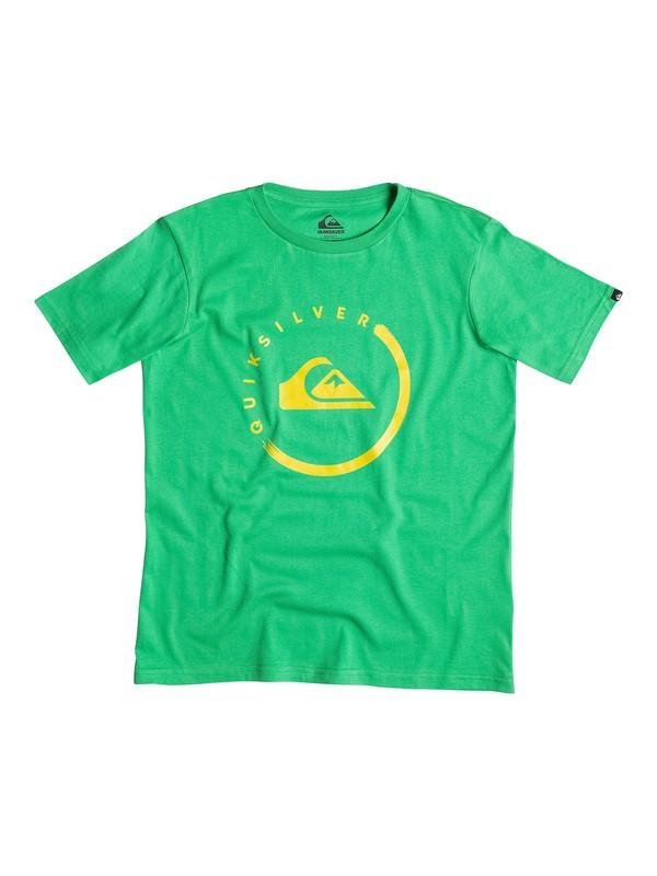 0 Classic Active Logo Ink - T-shirt  EQBZT03143 Quiksilver