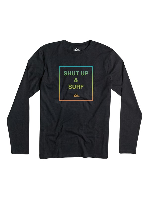 0 Classic Shut Up And Surf - T-shirt manches longues  EQBZT03152 Quiksilver