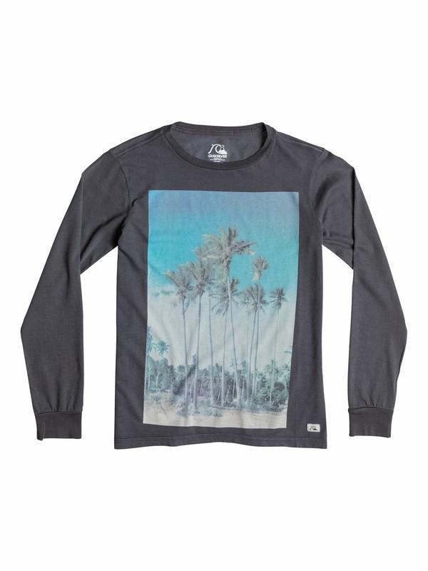 0 Garment Dyed Hidden Logo - T-shirt manches longues  EQBZT03164 Quiksilver