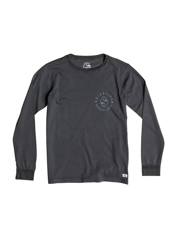 0 Garment Dyed Unidentified - T-shirt manches longues  EQBZT03165 Quiksilver
