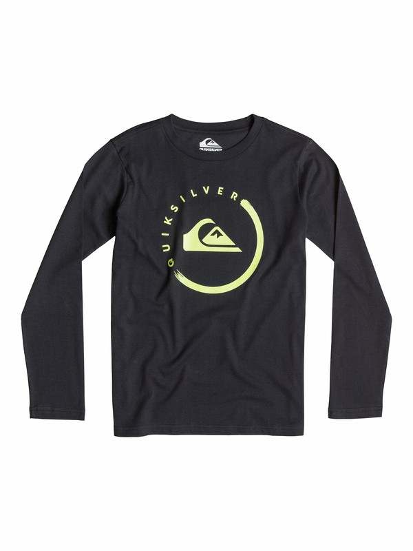 0 Classic Everyday Logo - T-shirt manches longues  EQBZT03171 Quiksilver