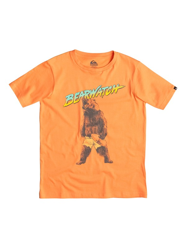 0 Classic Bearwatch - T-shirt Orange EQBZT03231 Quiksilver