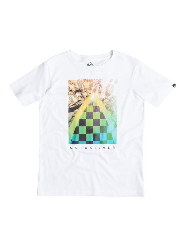 0 Classic Check Channel - T-shirt Blanc EQBZT03233 Quiksilver