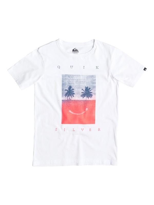 0 Classic Sad Is Better - T-shirt Blanc EQBZT03234 Quiksilver