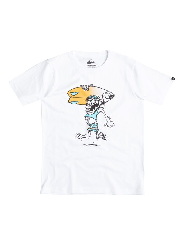 0 Classic Copawoumba - T-shirt Blanc EQBZT03239 Quiksilver