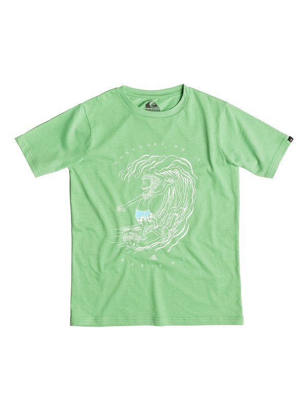 0 Classic Radical Surf - T-shirt Vert EQBZT03241 Quiksilver