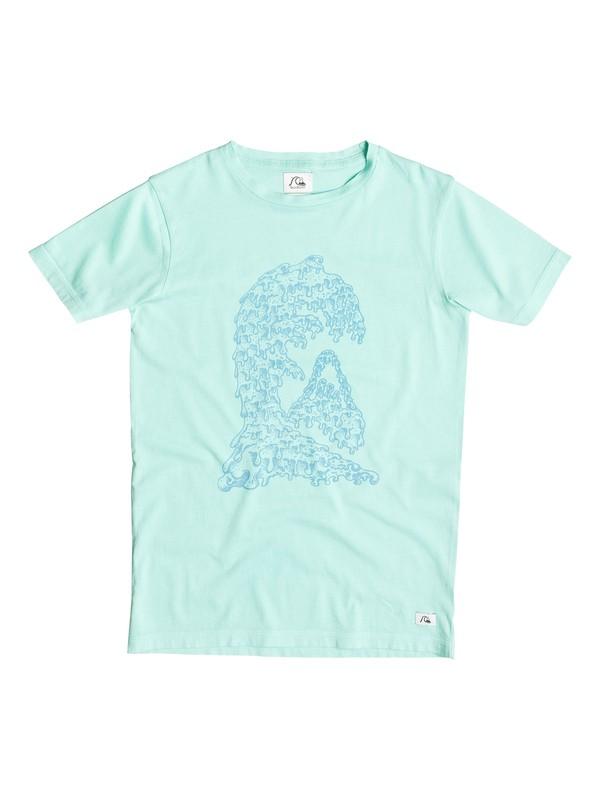 0 Garment Dye Candle Wave - T-shirt  EQBZT03251 Quiksilver