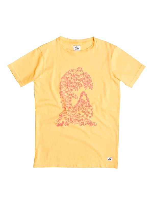 0 Garment Dye Candle Wave - T-shirt Jaune EQBZT03251 Quiksilver