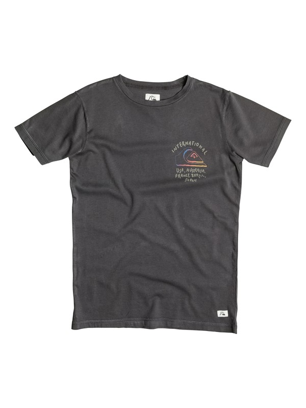 0 Garment Dye Wolrd Force - T-shirt Noir EQBZT03254 Quiksilver