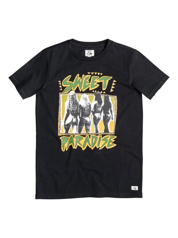 0 Paradise - T-shirt Noir EQBZT03257 Quiksilver