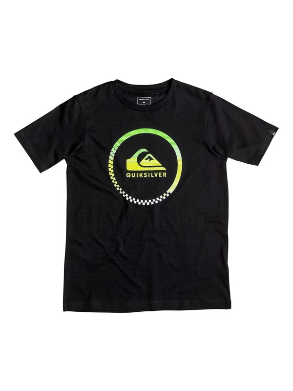 0 Classic Active Check - Tee-Shirt Noir EQBZT03347 Quiksilver