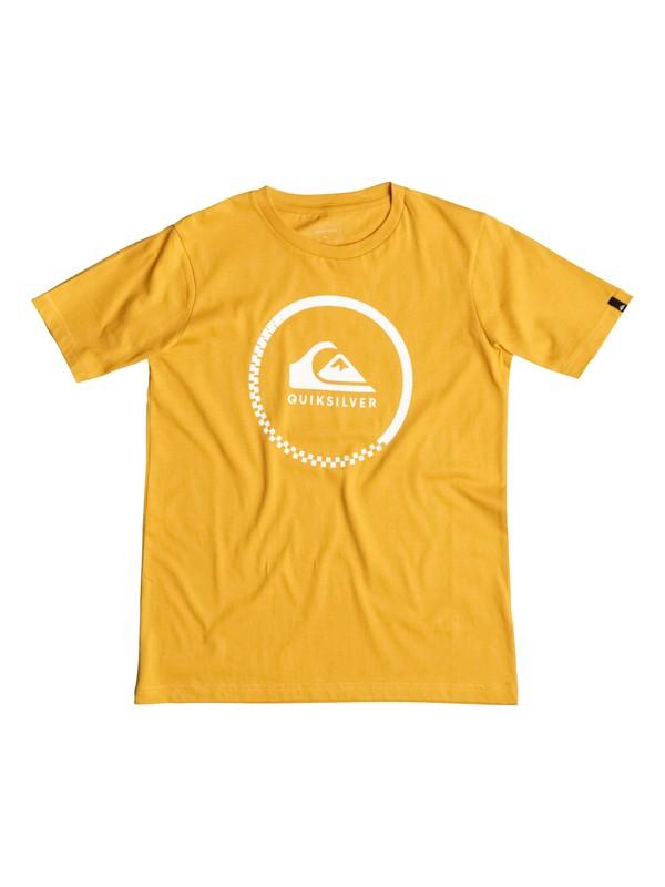 0 Classic Active Check - Tee-Shirt Jaune EQBZT03347 Quiksilver
