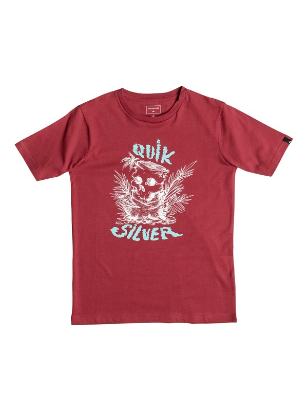 0 Classic Engraved - Tee-Shirt Rouge EQBZT03348 Quiksilver