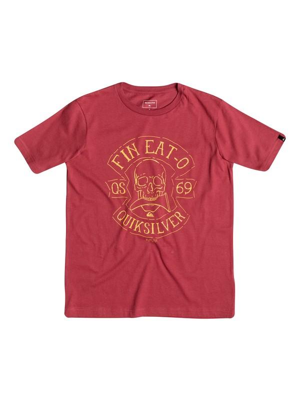 0 Classic Fin Eat - Tee-Shirt Rouge EQBZT03351 Quiksilver