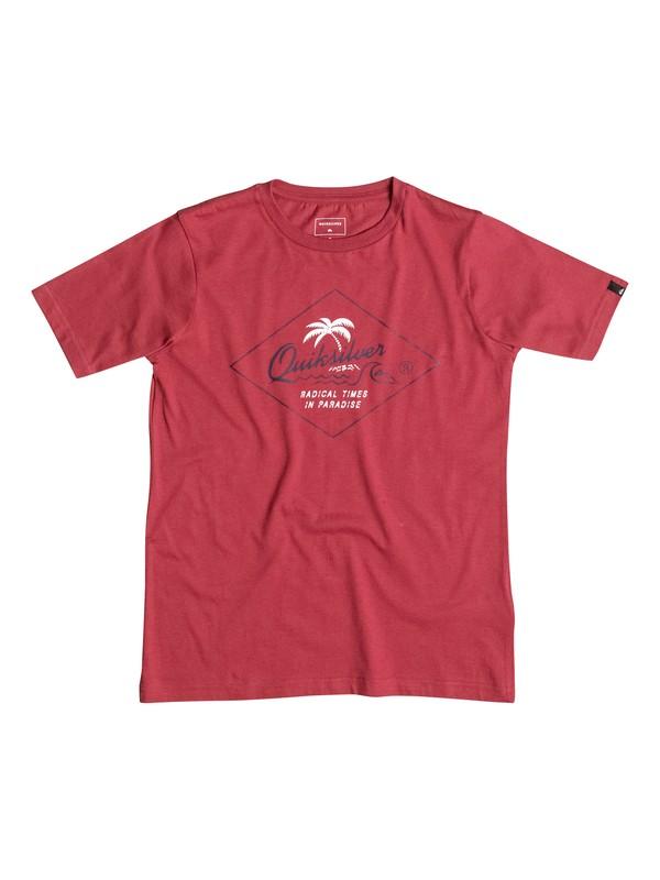 0 Classic Volcano Front - Tee-Shirt Rouge EQBZT03352 Quiksilver