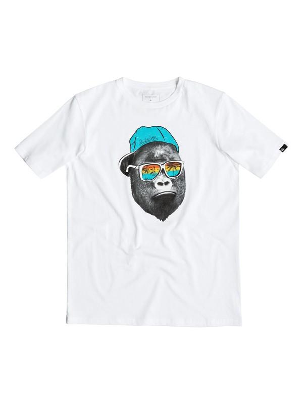 0 Classic Kong Business - Tee-Shirt Blanc EQBZT03354 Quiksilver