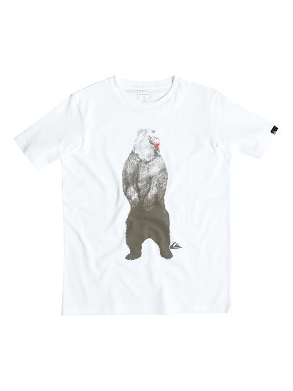 0 Mountain And Bear - Tee-Shirt Blanc EQBZT03357 Quiksilver