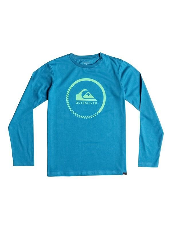 0 Classic Active Check - Tee-Shirt à manches longues Bleu EQBZT03358 Quiksilver