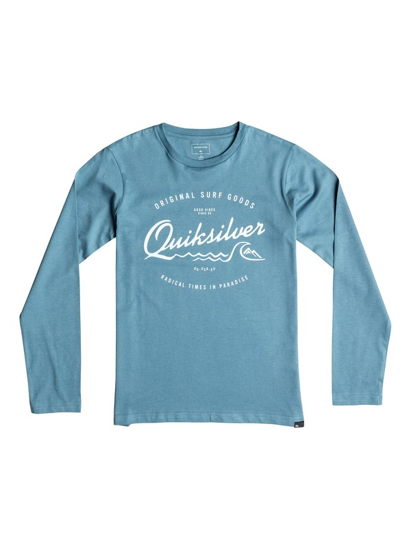 0 Classic West Pier - Tee-Shirt à manches longues Bleu EQBZT03359 Quiksilver