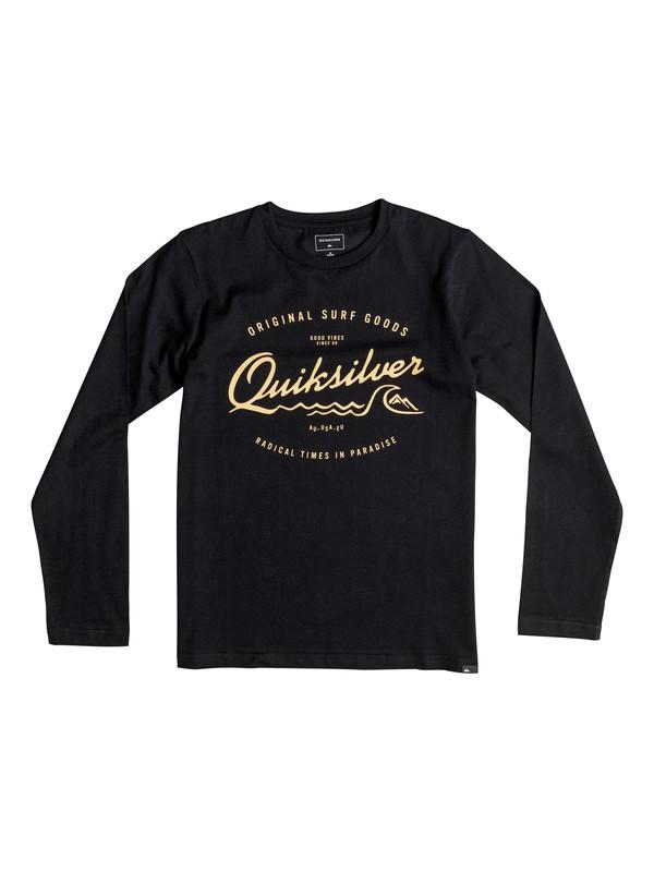 0 Classic West Pier - Tee-Shirt à manches longues Noir EQBZT03359 Quiksilver