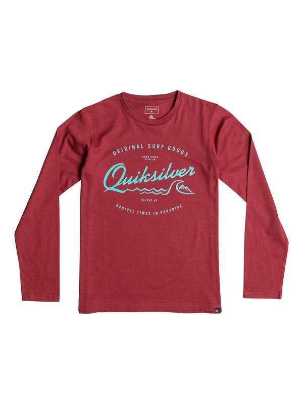 0 Classic West Pier - Tee-Shirt à manches longues Rouge EQBZT03359 Quiksilver