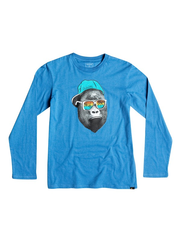 0 Classic Kong Business - Tee-Shirt à manches longues Bleu EQBZT03362 Quiksilver