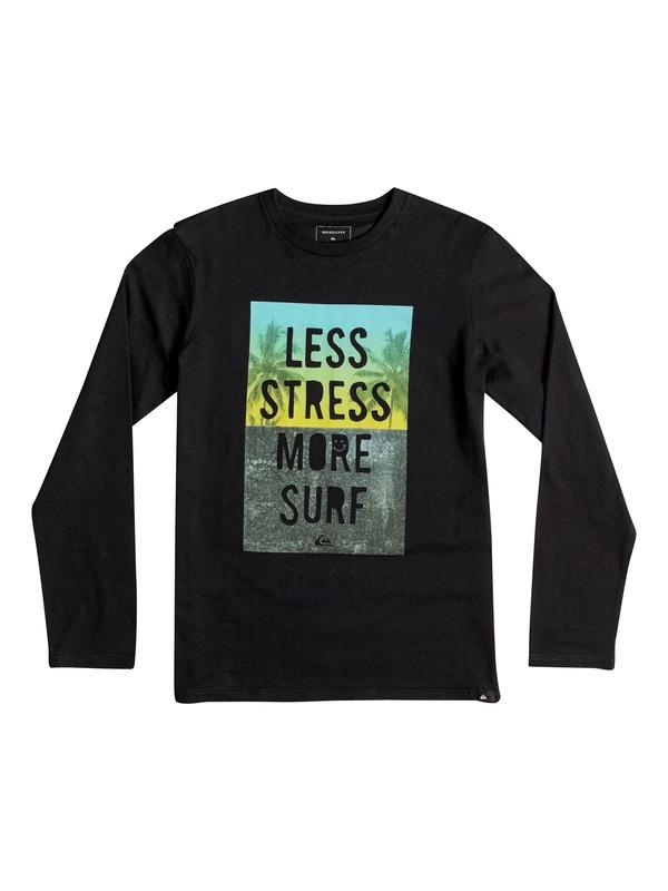 0 Classic Less Stress - Tee-Shirt à manches longues Noir EQBZT03363 Quiksilver