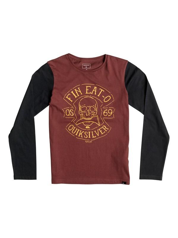 0 Colorblock Fin Eat - Tee-Shirt à manches longues  EQBZT03366 Quiksilver
