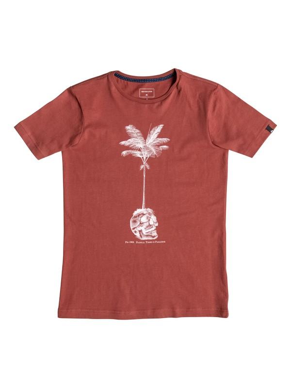 0 Carbon Cranium - Tee-Shirt Rouge EQBZT03369 Quiksilver