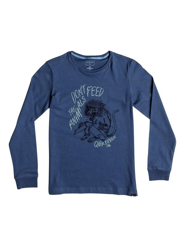 0 Carbon Baboon Trouble - Tee-Shirt à manches longues Bleu EQBZT03370 Quiksilver