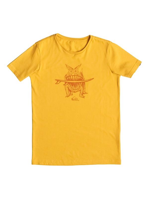 0 PM Brun's Dogi - Tee-Shirt Jaune EQBZT03375 Quiksilver