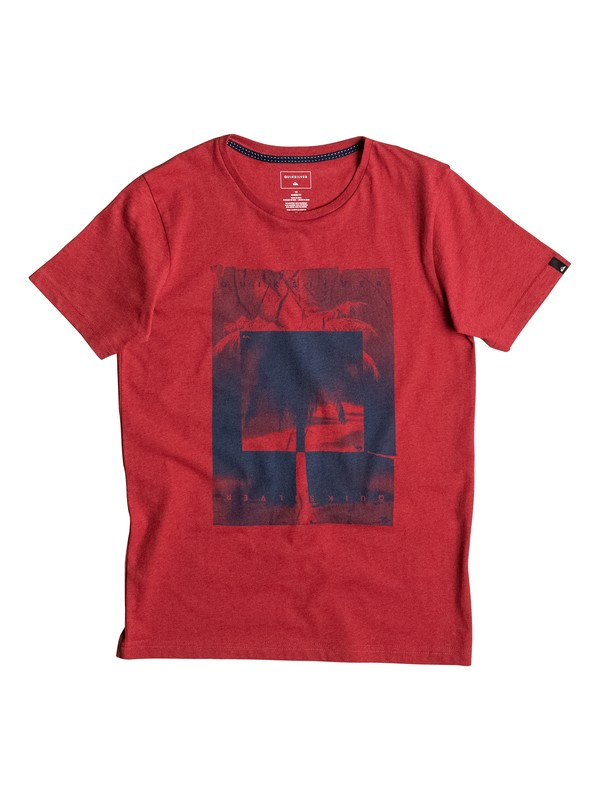 0 Heather Inverted - Tee-Shirt Rouge EQBZT03459 Quiksilver