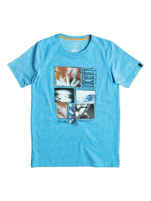 0 Heather Paradise Forg - Tee-Shirt Bleu EQBZT03461 Quiksilver