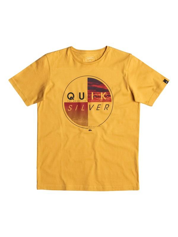 0 Classic Blazed - Tee-Shirt Jaune EQBZT03463 Quiksilver