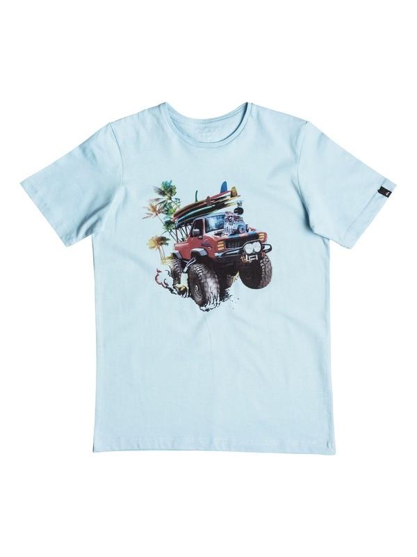 0 Classic Monster Garde - Tee-Shirt Bleu EQBZT03465 Quiksilver