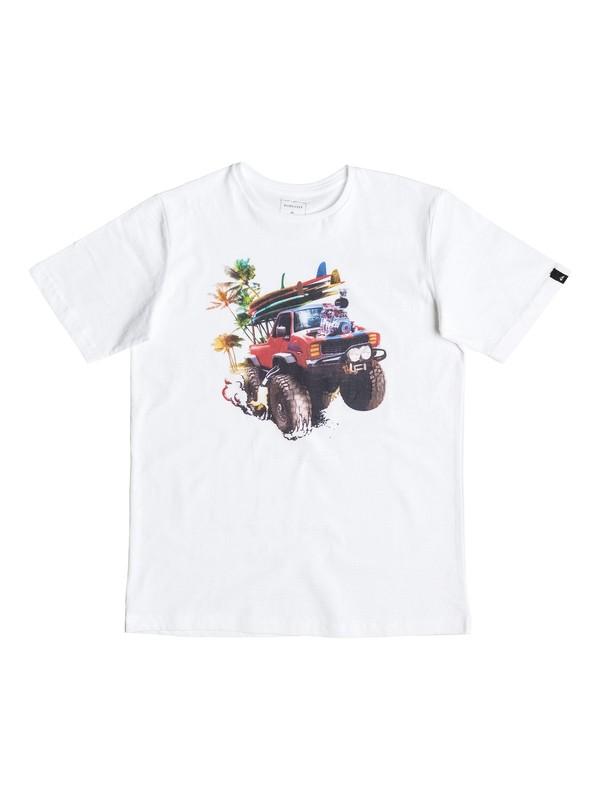 0 Classic Monster Garde - Tee-Shirt Blanc EQBZT03465 Quiksilver