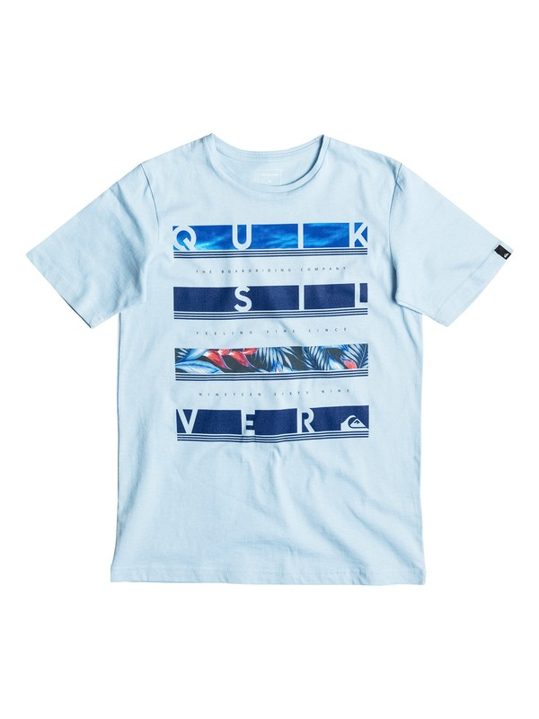 0 Classic Read Between - Tee-Shirt Bleu EQBZT03466 Quiksilver