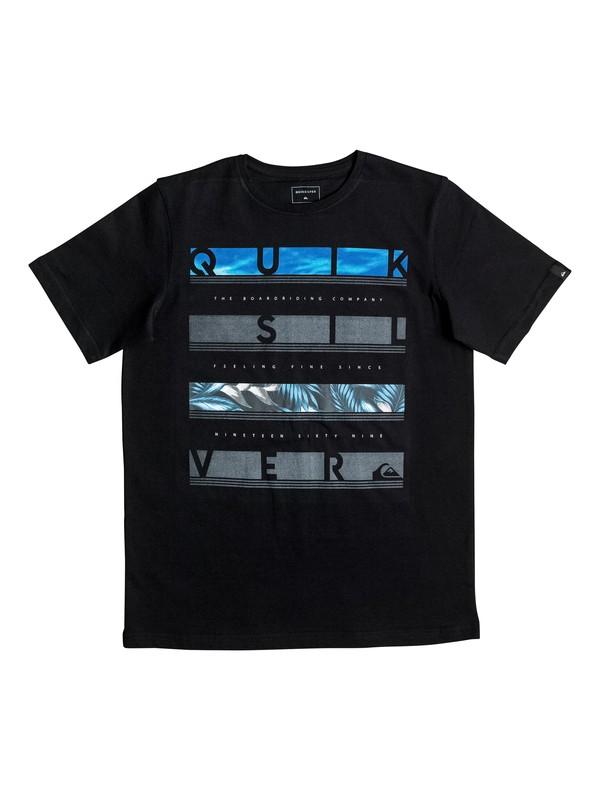 0 Classic Read Between - Tee-Shirt Noir EQBZT03466 Quiksilver