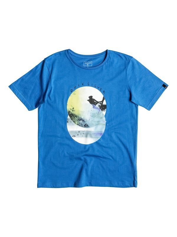 0 Classic Bubble - Tee-Shirt Bleu EQBZT03468 Quiksilver