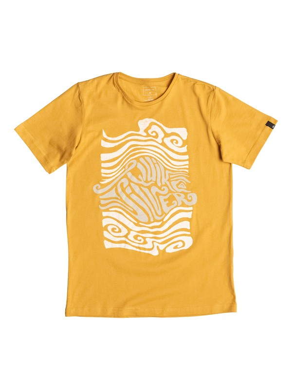 0 Classic Trouble - Tee-Shirt Jaune EQBZT03471 Quiksilver