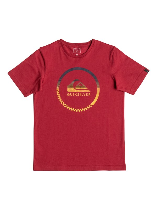 0 Classic Momentum - Tee-Shirt Rouge EQBZT03472 Quiksilver