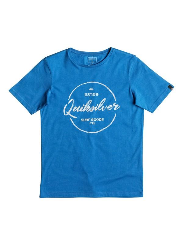 0 Classic Silvered - Tee-Shirt Bleu EQBZT03473 Quiksilver