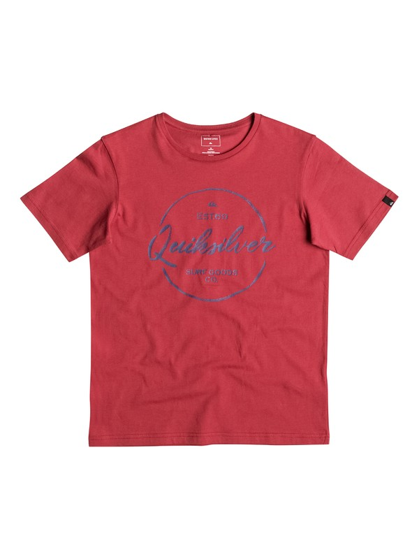 0 Classic Silvered - Tee-Shirt Rouge EQBZT03473 Quiksilver